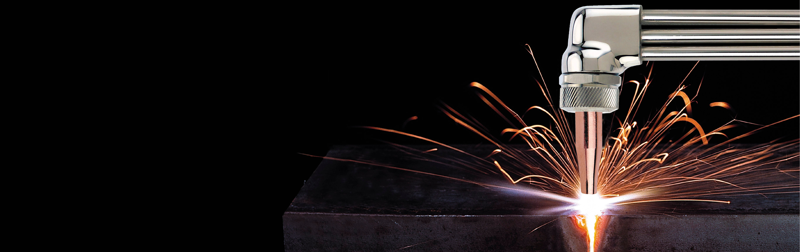JWS Welding and Industrial Supplies banner image showing a spot welder in action